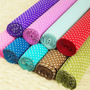 Free shipping 10pcs/lot Flower Packing Tissue Paper 1 roll = 50x250 cm Gift Wrap 13 color Available Printed Snow Dot TPSD-10