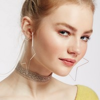 Free People Super Star Hoops