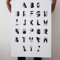 RS Bold - 24 x 36 Hand Printed Silkscreen Typographic Poster Print