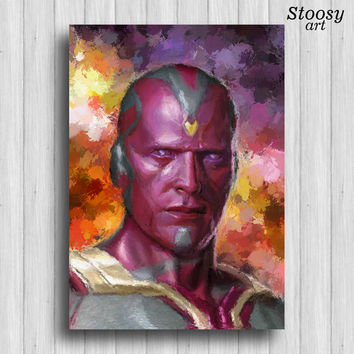 Vision avengers poster marvel art Age of Ultron