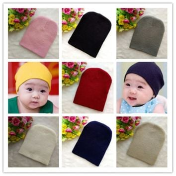 Baby Hat Newborn Baby Soft Cap Warm Crochet Beanie For Winter Autumn Toddler Boys Girls Kids Hat Photography Props Accessories