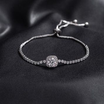 High Quality Cubic Zirconia Bracelet Adjustable