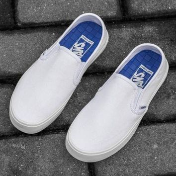 LMFONS Trendsetter Vans Slip-On Classic Canvas Flats Sneakers Sport Shoes