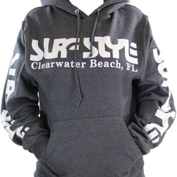 Surf Style Charcoal & White Hoodie