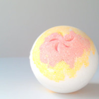 Plumeria Bath Bomb by ZEN-ful, Bath Bombs Mega Size , Bath Fizzy, Gift Ideas, Mother's Day, Bath Bomb 5.5 oz