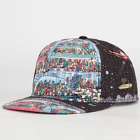Where's Waldo? Space Station Boys Snapback Hat Black Combo One Size For Women 23350414901