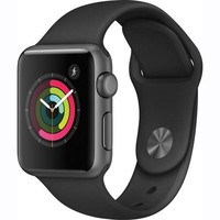 Apple Watch Series 1 Smartwatch 38mm Space Gray Aluminum Case, Black Sport Band (Newest Model) (Certified Refurbished)