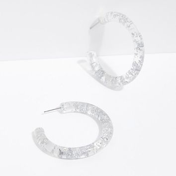 Metallic Flake Resin Tube Hoops