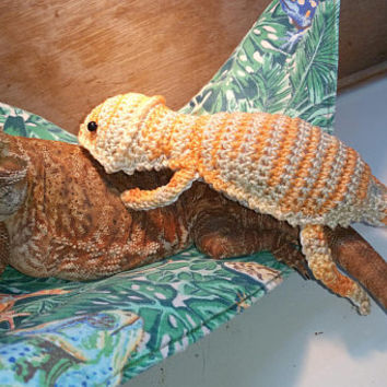 Bearded Dragon Amigurumi Stuffed Toy Crochet PATTERN only