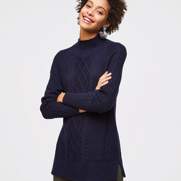 Cable Tunic Sweater | LOFT