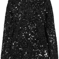 By Malene Birger - Zio sequined satin-jersey top
