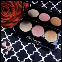 NEW! All natural Mineral makeup - Highlight, blush, bronzer trio - contour palette