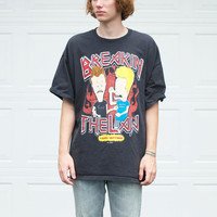 "90's Beavis and Butthead ""Breakin The Law"" Tee"