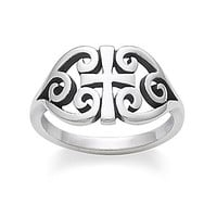 James Avery Scroll Cross Ring - Sterling Silver 9