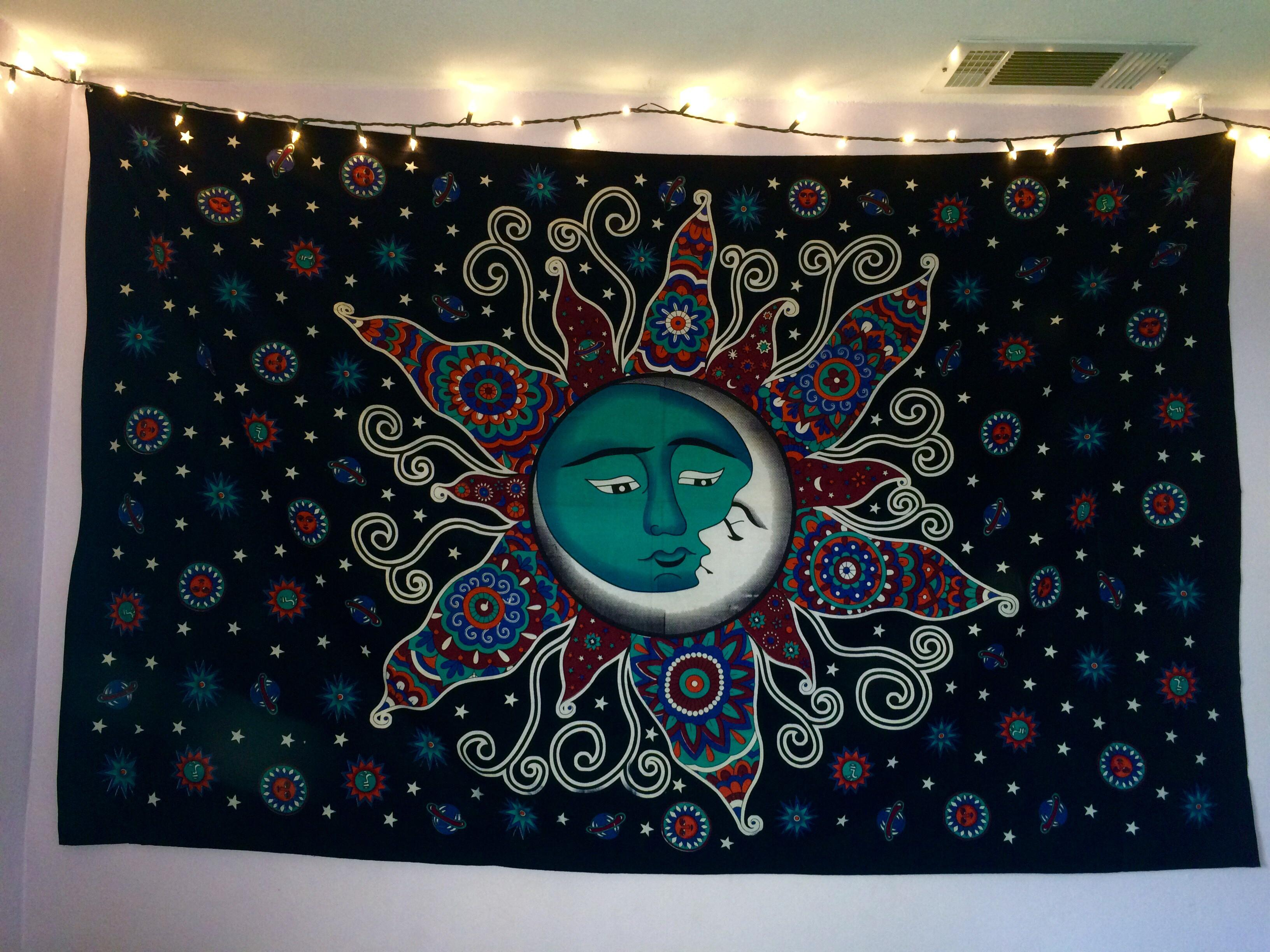 Sun Psychedelic Wall Tapestry Sun and from Go Get Glam ...
